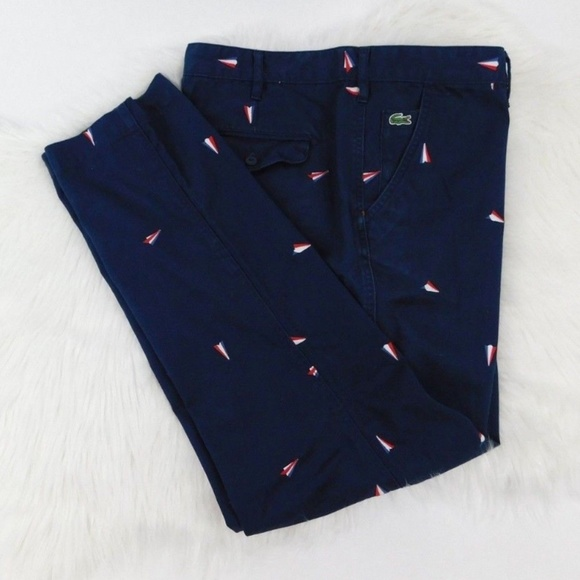 b84baffc6536 Lacoste Other - Lacoste Live! Embroidered Chino Red White Blue